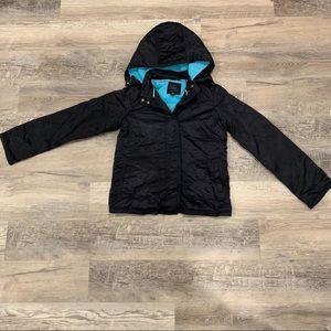 GAP silky black coat with fleece lining